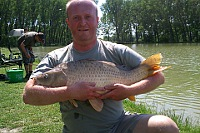 6,5kg carp - the first catch of the day