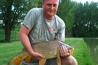 6.5kg carp - the last catch of the day